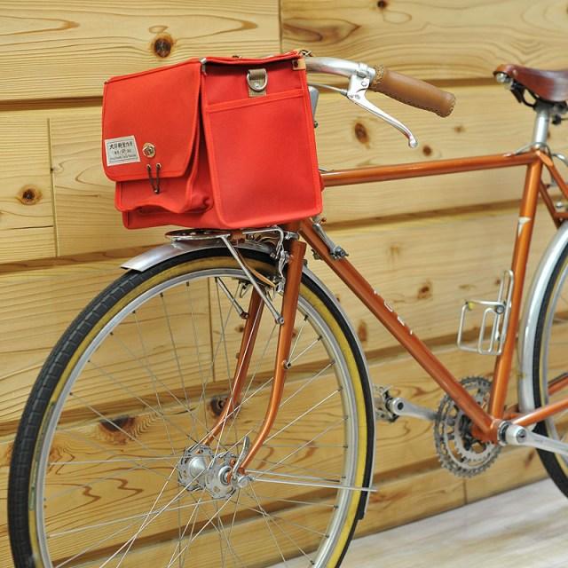 自転車用フロントバッグ(小)― 犬印鞄製作所