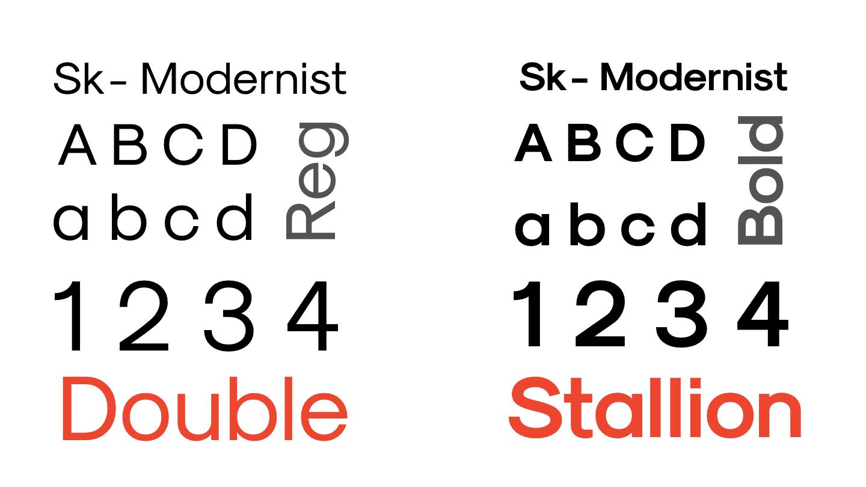 Double Stallion Web Development Typography