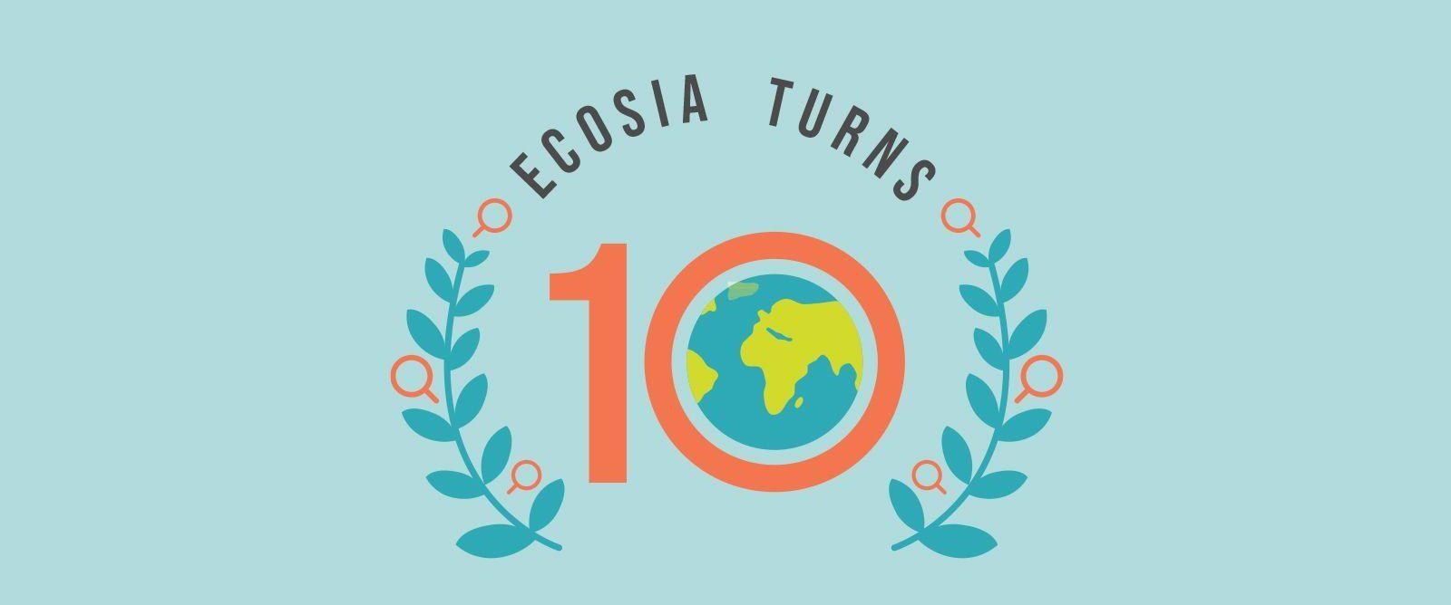 Ecosia: 10 anni di ricerche e riforestazione