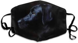 Mundschutzmaske Schwarzer Labrador