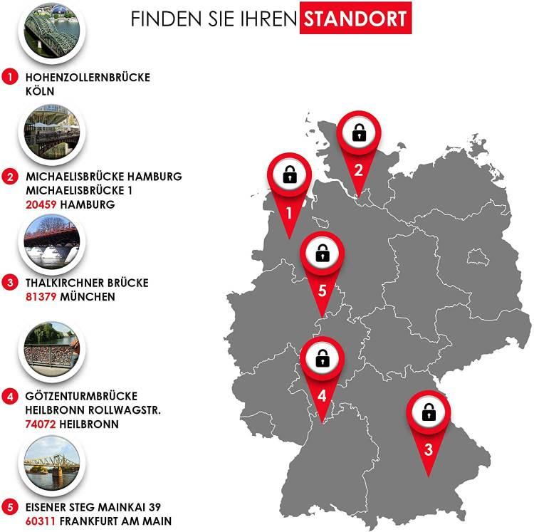 Standorte Deutschland Brücken für Liebesschlösser