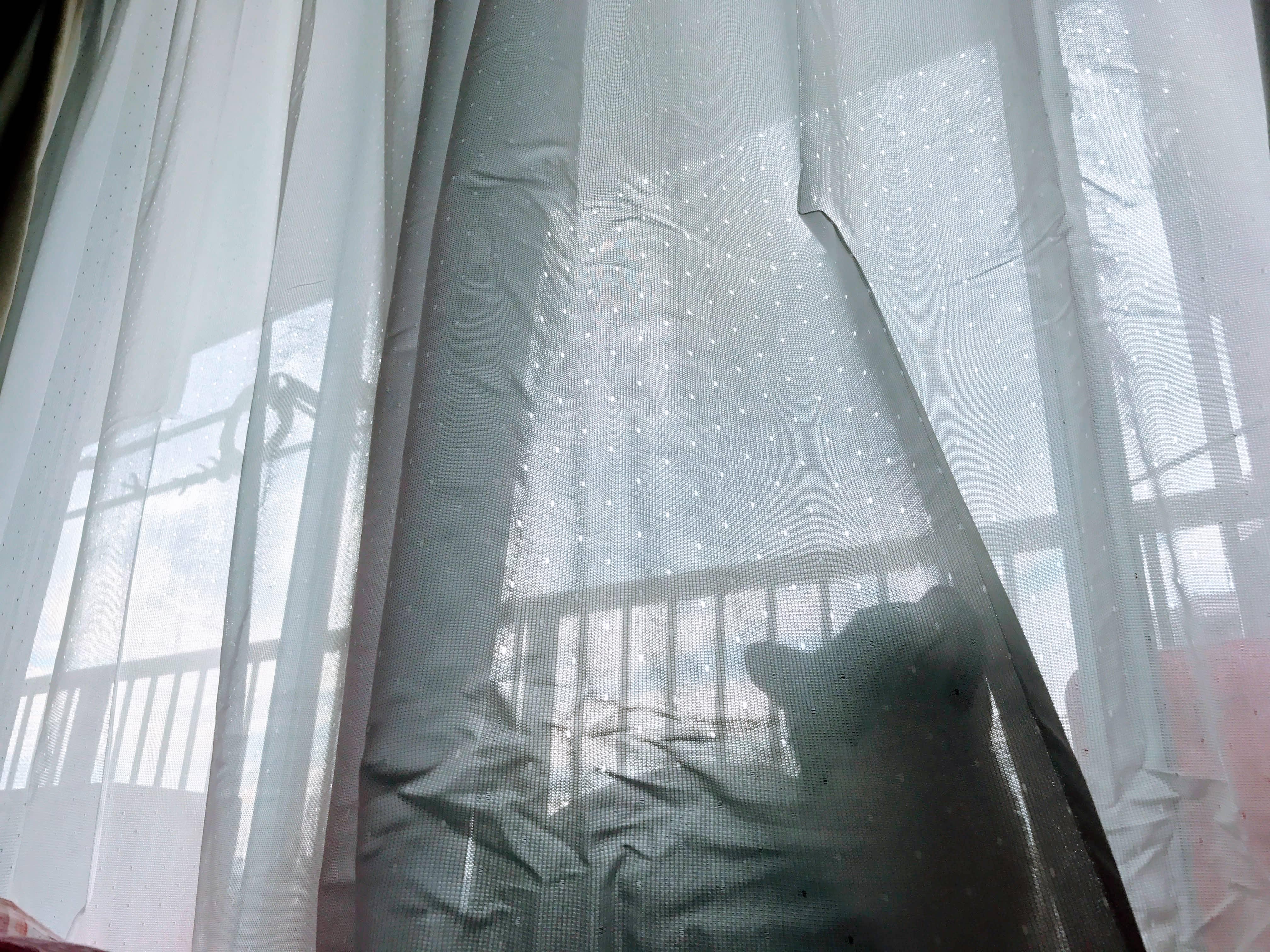 ニトリの花粉キャッチレースカーテン買ってきたよ!
