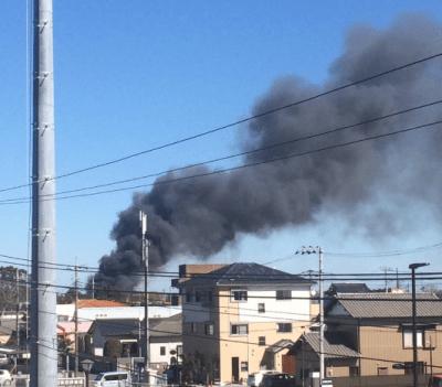 千葉県-横芝光町プラスチック製造工場で火災