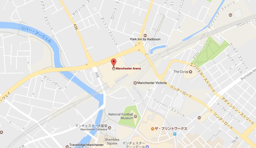 マンチェスター・アリーナで爆発事件