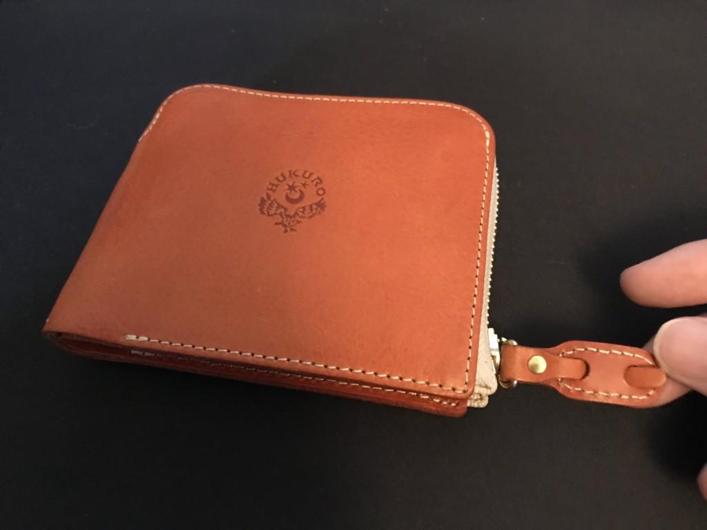 大きく開く小さな財布(オレンジ)