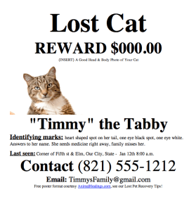 Missing Pet Template. pets flyer templates postermywall. lost pet ...