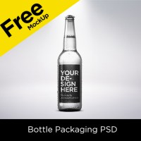 Free Mockup | Bottle Label PSD