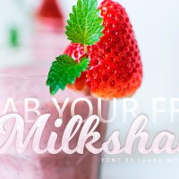 Free Font | Milkshake  by Laura Worthington