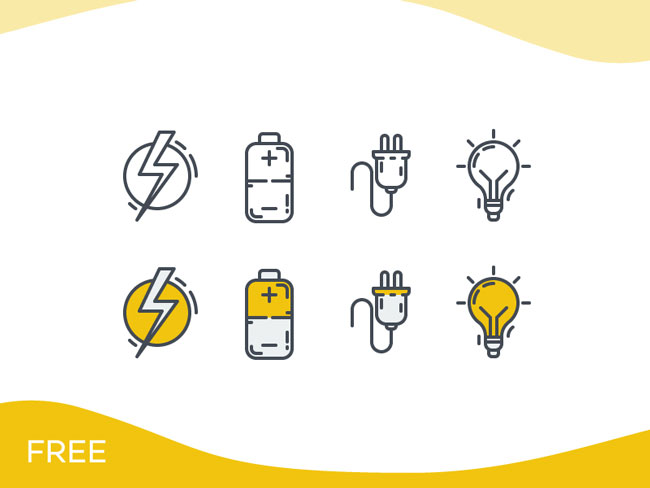 Electricity Icon Set Download For Free