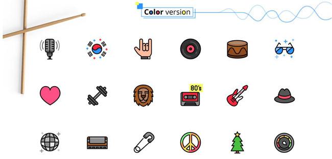 Music Genres Icon Set Download Free