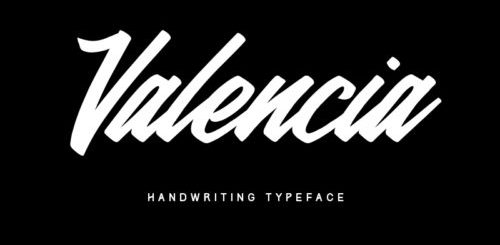 Valencia Calligraphy Typeface Font Free Download