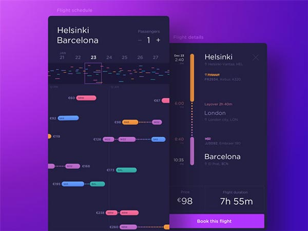 15 Booking & Payment Mobile App UI Designs For Inspiration