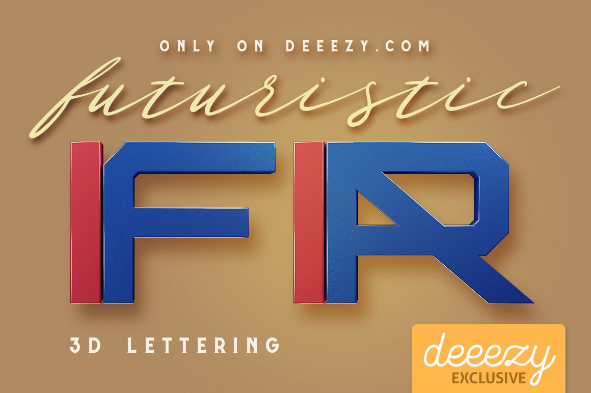 Futuristic 3D Lettering PNG Images Free Download