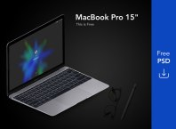 Apple Macbook Pro & Ipad Mockup Free PSD Download