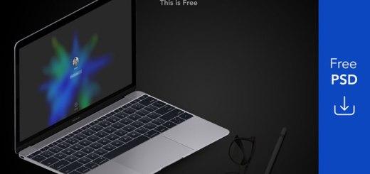 Apple Macbook Pro & Ipad Mockup Free PSD Download