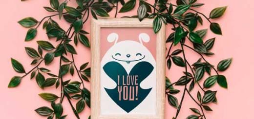 Valentine Wood Frame Mockup