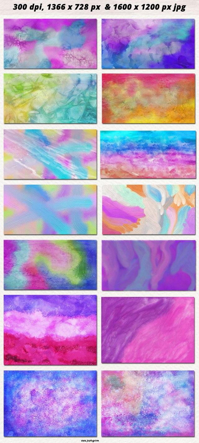Watercolor & Oil Paint Digital Papers