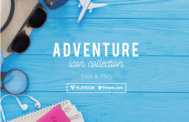 48 Adventure Icons Collection Free Download PNG & SVG