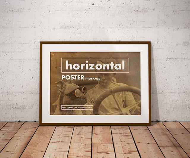 Realistic Poster Frame Mockup