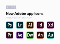 Adobe CC Software Vector Icons
