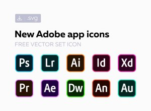 Adobe CC Software Vector Icons