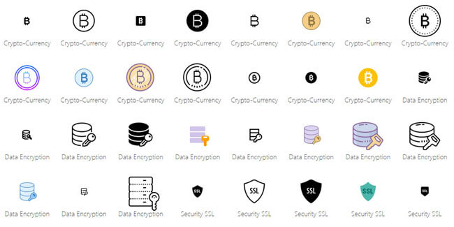 bitcoins icons pack free