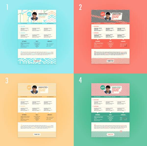 10 brilliant resume templates free download in 2018