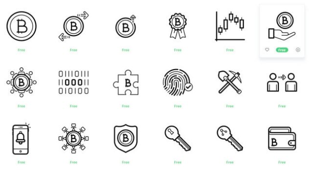 Cryptocurrency Icon Sets