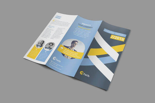 Best TriFold Brochure Templates For InDesign - Tri fold brochure indesign template