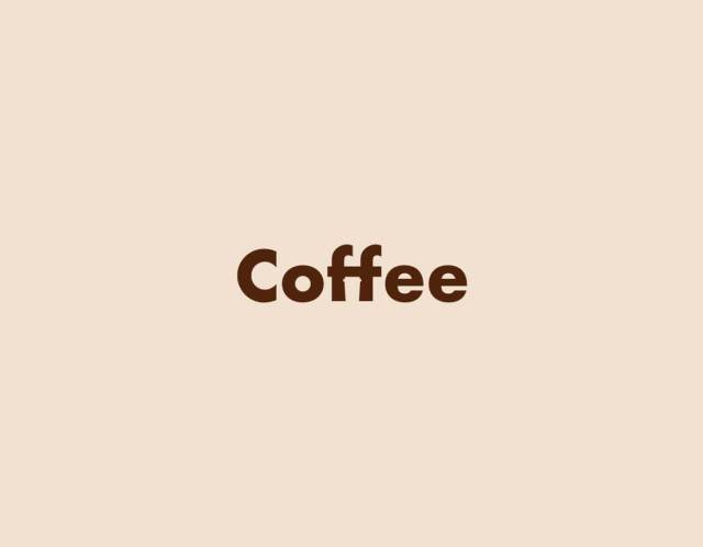 simple minimal coffee logo