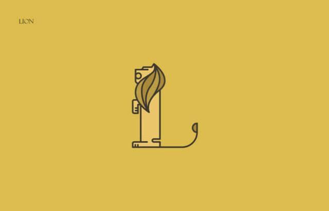 Lion Clever Alphabetical Logos