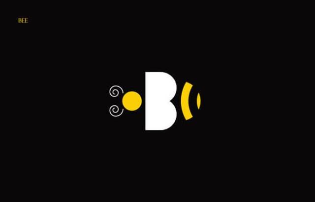 Bee Clever Alphabetical Logos