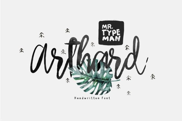 Arthard Handwritten Script Font Free Download