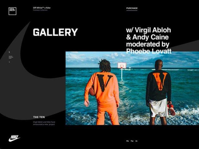 dark gallery ui design