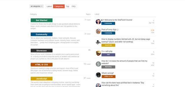 sitepoint forum