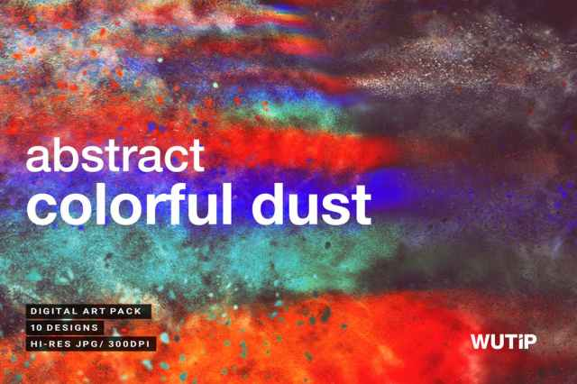Abstract Colorful Dust Backgrounds