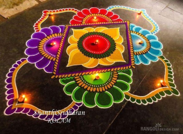 diwali new rangoli design
