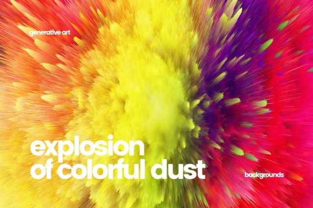 Explosion Colorful Dust Backgrounds