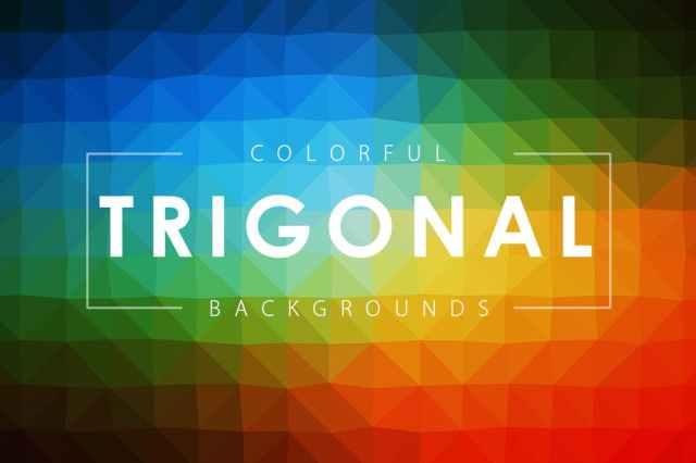 Colorful Trigonal Backgrounds