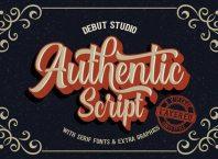 authentic vintage style font