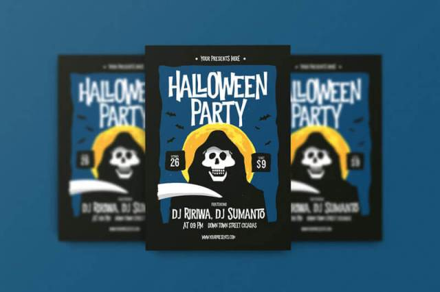 Halloween Party Flyer Templates psd