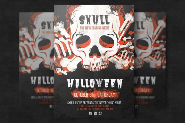 Halloween Skull Flyer Templates
