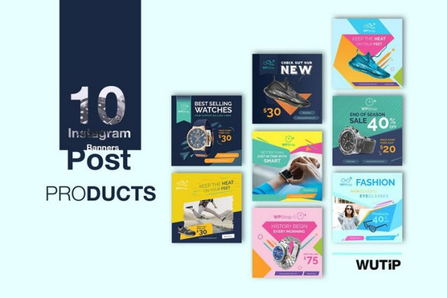 instagram products psd templates