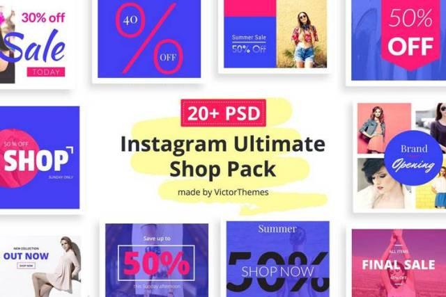 instagram shop template pack