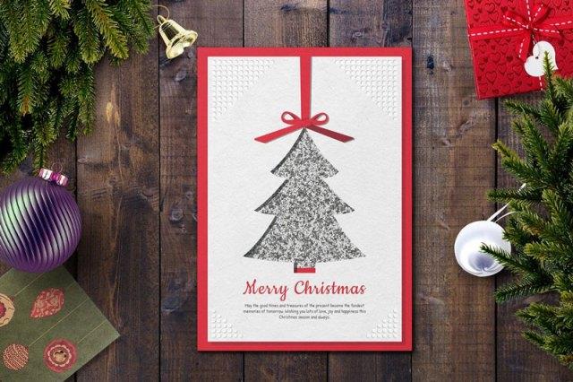 Creative Christmas Card PSD Template