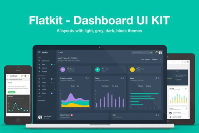 Bootstrap dashboard ui kit template