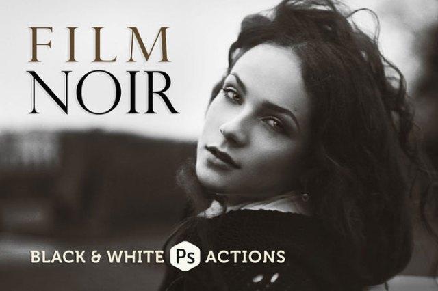 Film Best Black & White Photoshop Actions