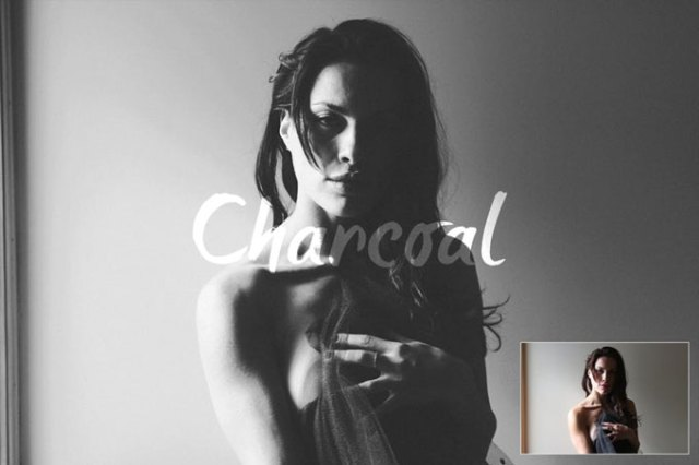 charcoal Best Black & White Photoshop Actions