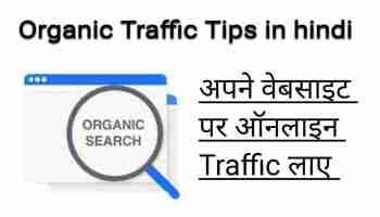 Blog organic traffic tips in hindi: अपने ब्लॉग पर फ्री ट्रफिक कैसे लाएं ?