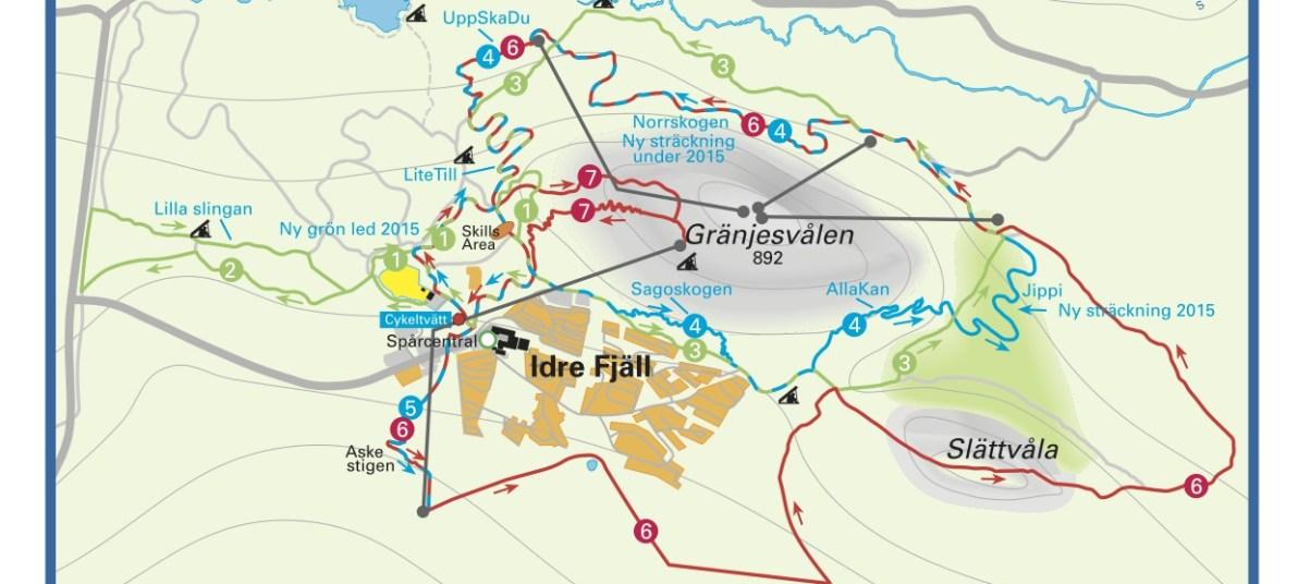 MTB trail – Idre Fjäll, Sweden